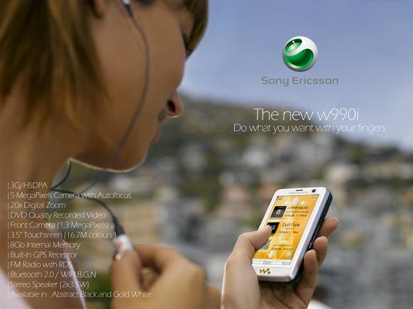 Sony Ericsson W990i с сенсорным дисплеем