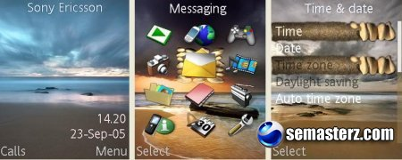 Beach- Тема для Sony Ericsson [320x240]