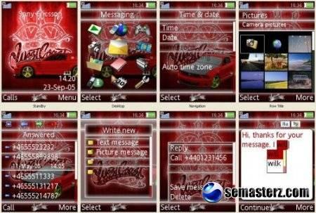 West Coast Customs - Тема для Sony Ericsson:   K810, K800, K790, K770, S500, W910, W880, W850, W580, T650.