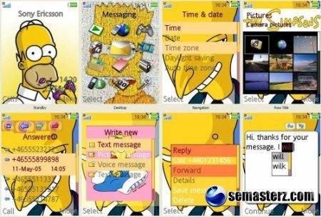 The Simpsons- темa для Sony Ericsson [320x240]