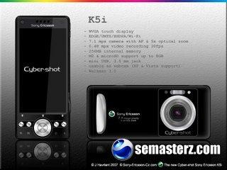 SonyEricsson K5i - фотографам будет не успокоиться