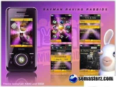 ���� Rayman Raving Rabbids Sony Ericsson K800i � S500i