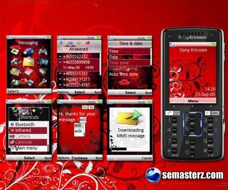 abstract. Тема для мобильных телефонов Sony Ericsson [240x320]