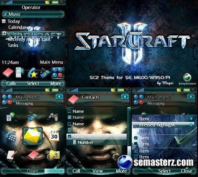StarCraft 2 тема для SonyEricsson M600/W950/P1i
