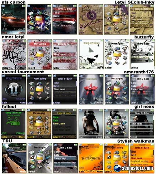 10 тем для Sony Ericsson