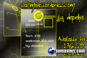 Tech 319 176x220 & 240x320 walkman 2.0 skin