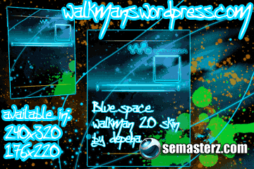 Blue Space walkman 2.0 skin 176x220 & 240x320