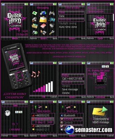 Devil & Fire - тема для Sony Ericsson 240x320