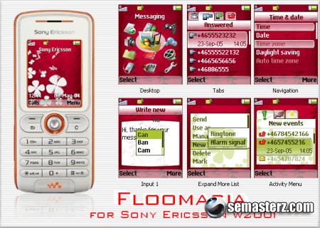 Floomasia - Тема для Sony Ericsson 128x160