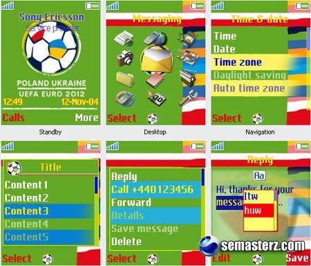 Euro 2012 - Тема для Sony Ericsson 176x220
