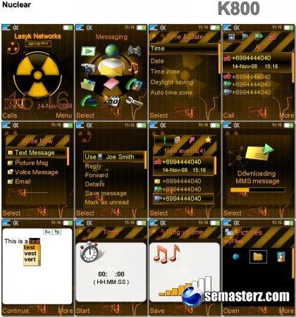 Nuclear - Тема для Sony Ericsson 240x320
