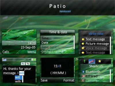 Patio translucent - Тема для Sony Ericsson [240x320]