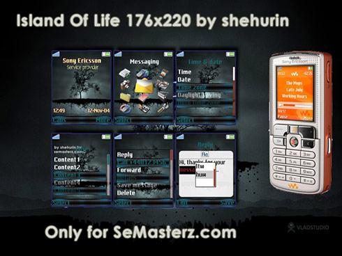 Island Of Life by shehurin - Тема для Sony Ericsson 176x220