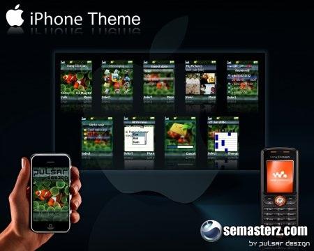 Iphone Theme - Тема для Sony Ericsson 128x160