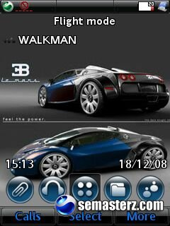 Bugatti_Le_Mans- Тема для Sony Ericsson UIQ3