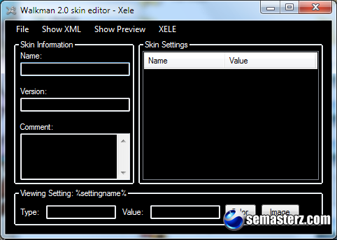 XELE - Walkman 2 Skin Editor