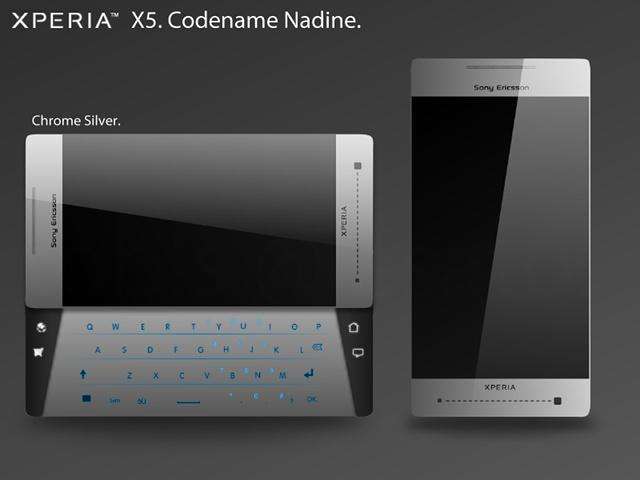 Концепт коммуникатора Sony Ericsson XPERIA X5 Nadine