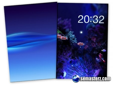 Wave Panel & MobileAquarium - Flash Wallpaper From SE Vivaz
