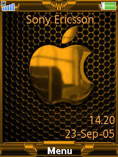 Gold Apple - Тема для SE 240х320
