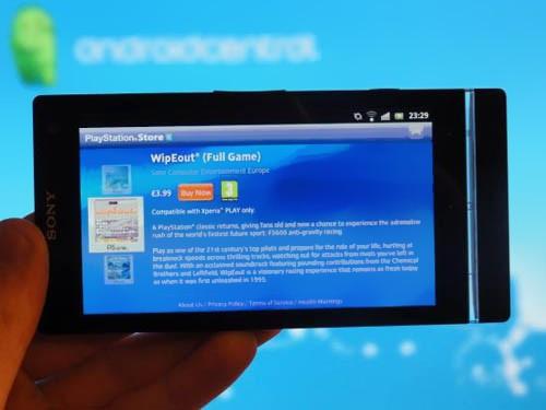 Sony Xperia S получил поддержку PlayStation Store