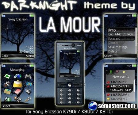DarkNight - Анимированная тема для телефонов SonyEricsson [240x320]