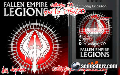 Fallen Empire: Legions walkman 2.0 скин для 240×320 & 176x220