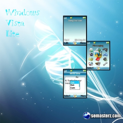 Windows Vista Lite - Тема для Sony Ericsson 128*160